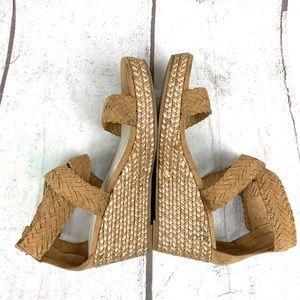 Stuart Weitzman Shoes - Stuart Weitzman Akilah Tan Sparkle Wedge Sandal /3